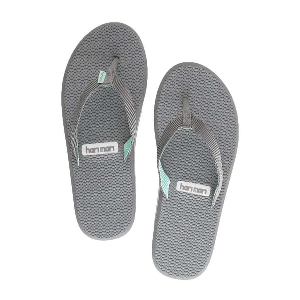 Women's Sandals - Women's Dunes Flip Flop In Dark Grey, Light Gray & Mint By Hari Mari