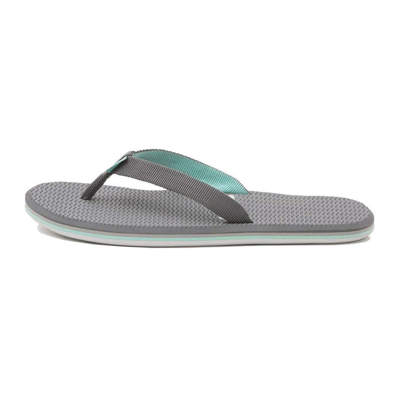 Women's Dunes Flip Flop in Dark Grey, Light Gray & Mint by Hari Mari