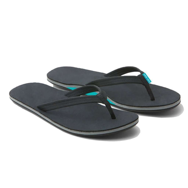 Women's Sandals - Women's Fields Flip Flop In Black & Sea Foam By Hari Mari