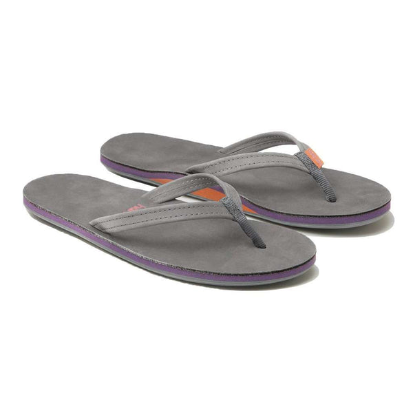 Women's Sandals - Women's Fields Flip Flop In Dark Gray, Purple & Rust By Hari Mari