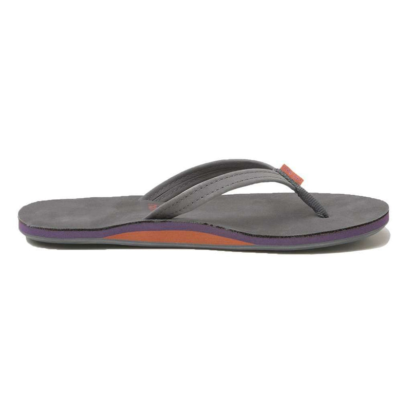 Women's Fields Flip Flop in Dark Gray, Purple & Rust by Hari Mari