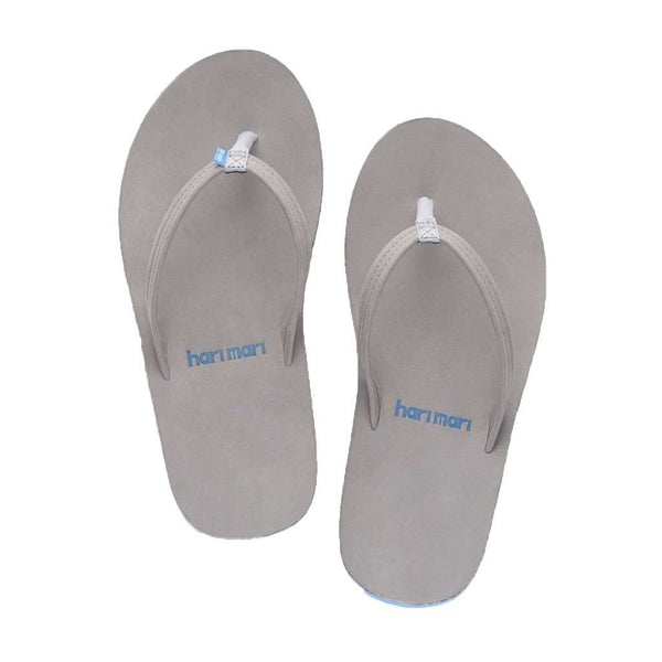 Women's Sandals - Women's Fields Flip Flop In Light Gray, Blue & Pink By Hari Mari