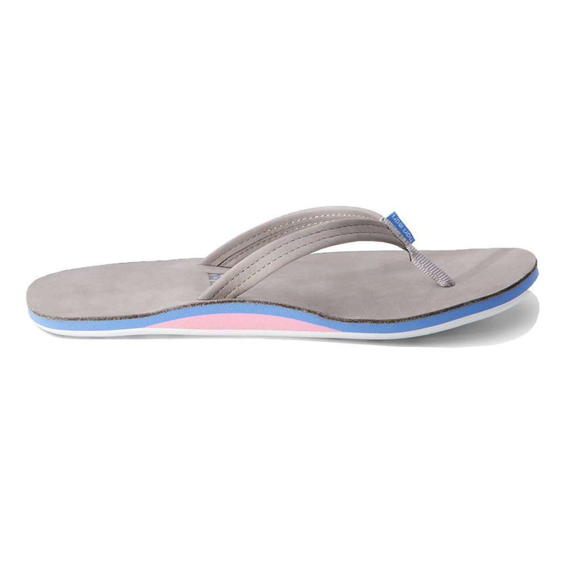 Women's Fields Flip Flop in Light Gray, Blue & Pink by Hari Mari