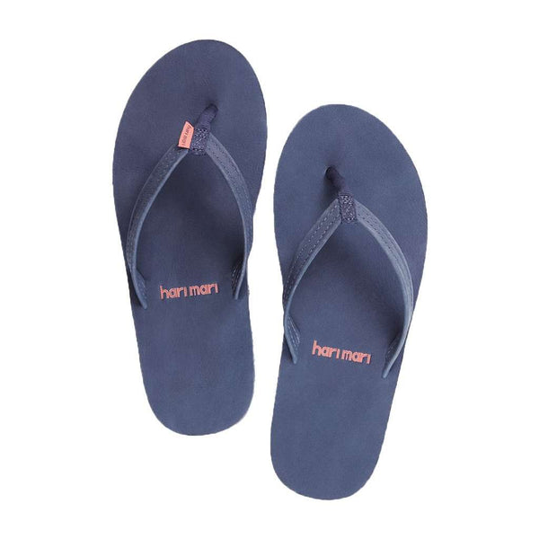 Women's Sandals - Women's Fields Flip Flop In Navy, Peach & Gray By Hari Mari
