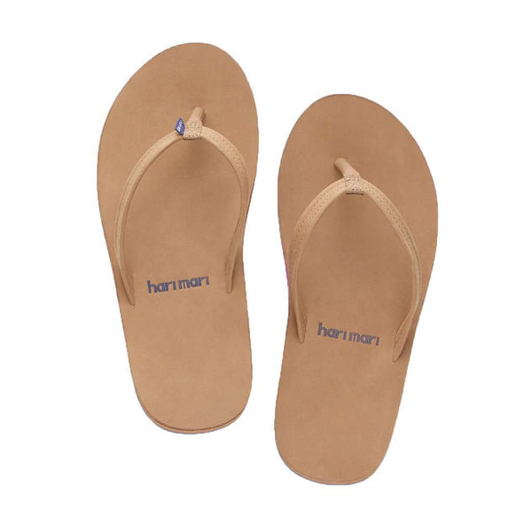 Women's Fields Flip Flop in Tan, Pink & Blue by Hari Mari