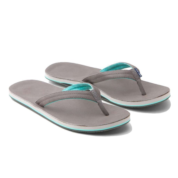 Women's Sandals - Women's Lakes Flip Flop In Dark Gray & Mint By Hari Mari