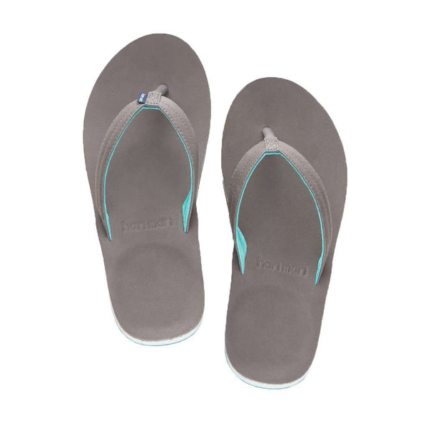 Women's Lakes Flip Flop in Dark Gray & Mint by Hari Mari