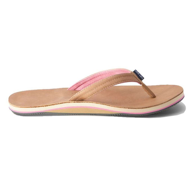 Women's Lakes Flip Flop in Tan & Pink by Hari Mari