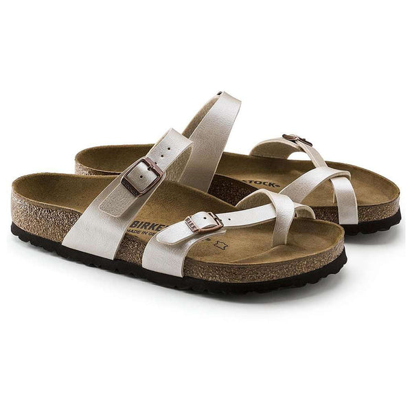 Women's Sandals - Women's Mayari Sandal In Graceful Pearl White By Birkenstock