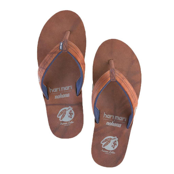 Women's Nokona Flip Flop in Walnut by Hari Mari