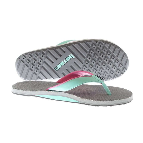 Women's Parks II Flip Flops in Gray & Mint by Hari Mari