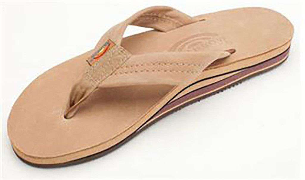 c8e221490 Women s Premier Leather Double Layer Arch Sandal in Sierra Brown by Rainbow  Sandals