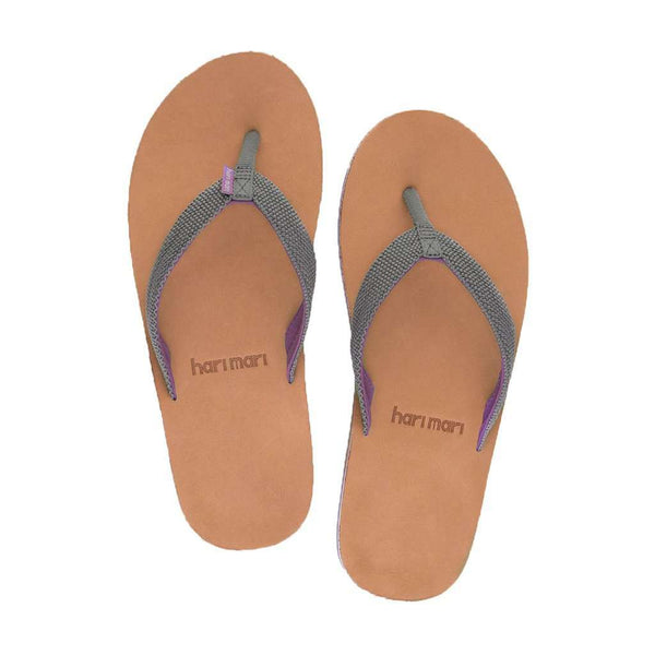 Women's Sandals - Women's Scouts Flip Flop In Gray & Purple By Hari Mari