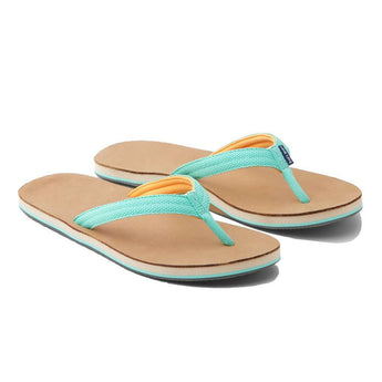 Women's Sandals - Women's Scouts Flip Flop In Mint & Orange By Hari Mari