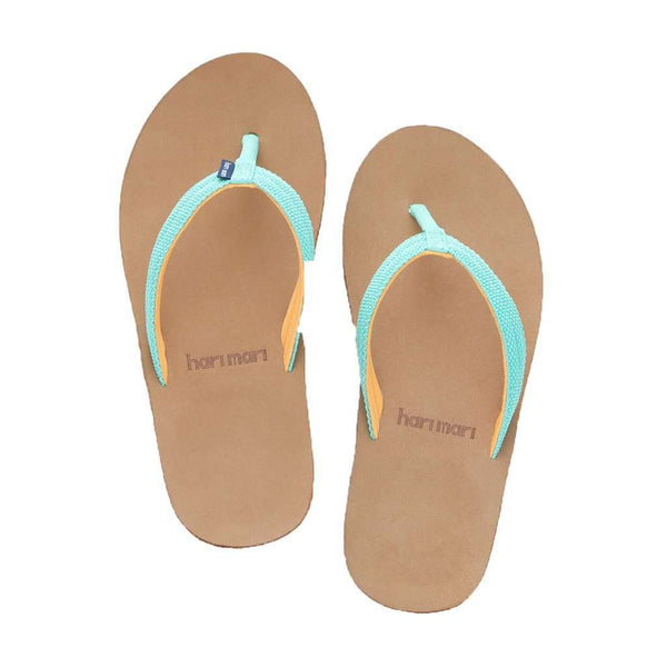 Women's Scouts Flip Flop in Mint & Orange by Hari Mari