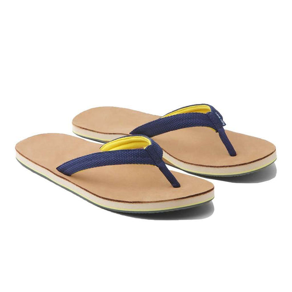 Women's Sandals - Women's Scouts Flip Flop In Navy & Yellow By Hari Mari
