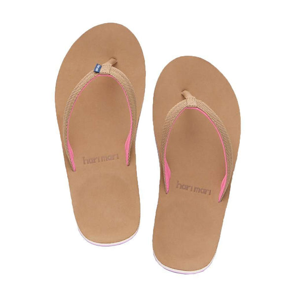 Women's Scouts Flip Flop in Tan & Shell Pink by Hari Mari