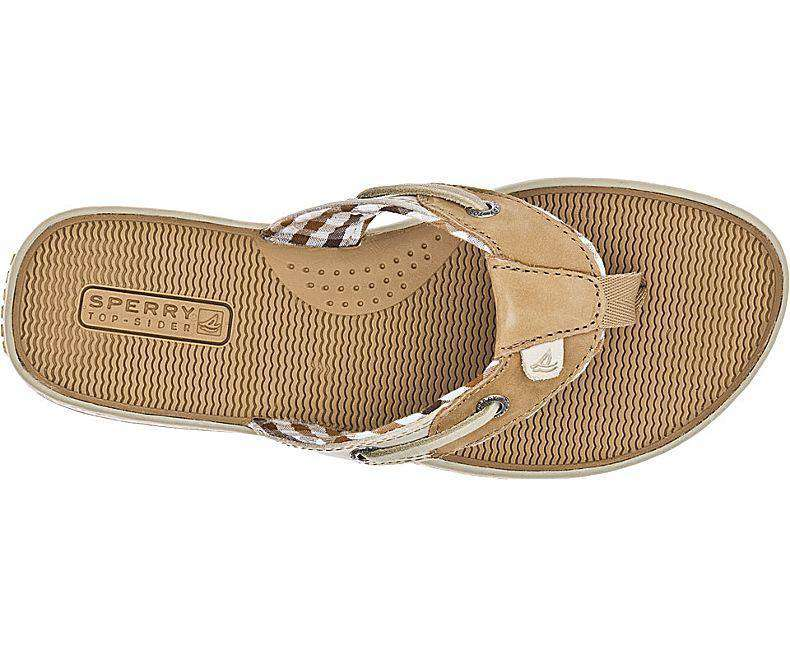 37ad00c07a50 Women s Sandals - Women s Seafish Thong Sandal In Linen   Oat Leather By  Sperry