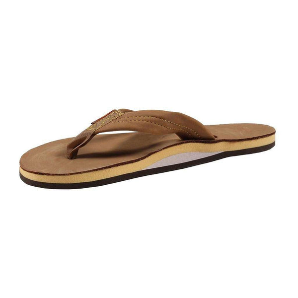 Women's Sandals - Women's Single Layer Premier Leather Sandal In Sierra Brown With Lemon Arch By Rainbow Sandals