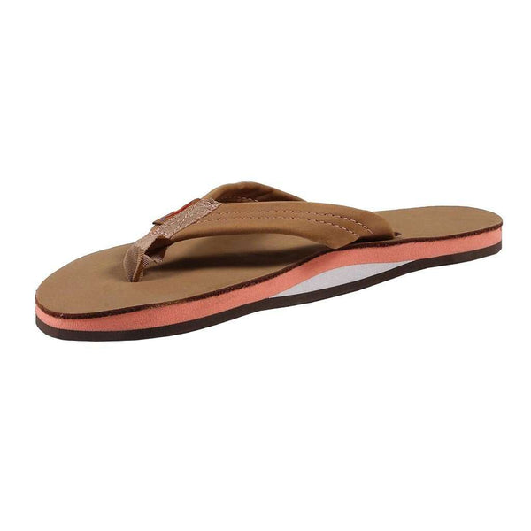 568c0f8379d58 Women s Single Layer Premier Leather Sandal in Sierra Brown with Melon Arch  by Rainbow Sandals