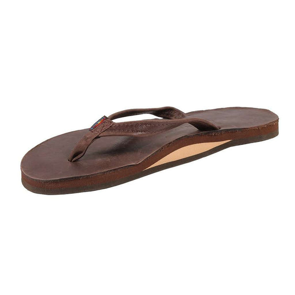 dc5140094 ... Women s Sandals - Women s Thin Strap Classic Leather Single Layer Arch  Sandal In Mocha By Rainbow
