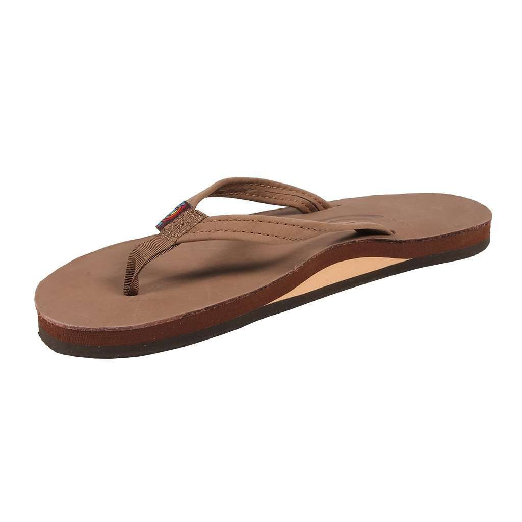e827aa27a99078 Rainbow Sandals Women s Thin Strap Premier Leather Single Layer Arch Sandal  in Dark Brown – Country Club Prep