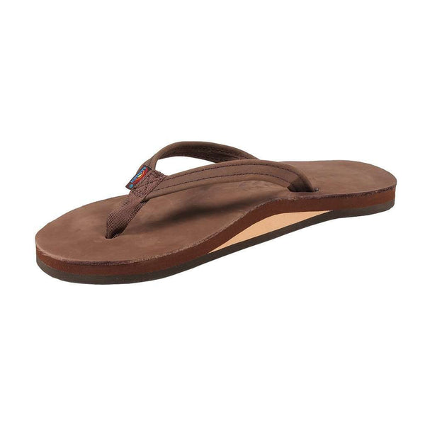 73ceca1c1d60 ... Women s Sandals - Women s Thin Strap Premier Leather Single Layer Arch  Sandal In Expresso By Rainbow
