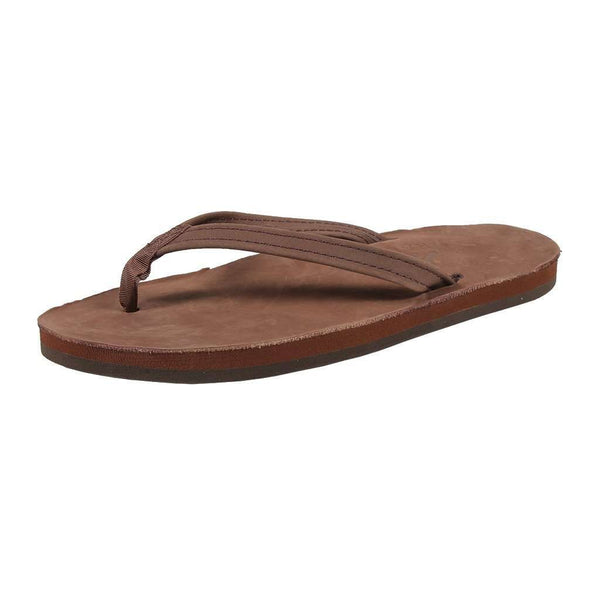 Women's Thin Strap Premier Leather Single Layer Arch Sandal in Expresso by Rainbow Sandals