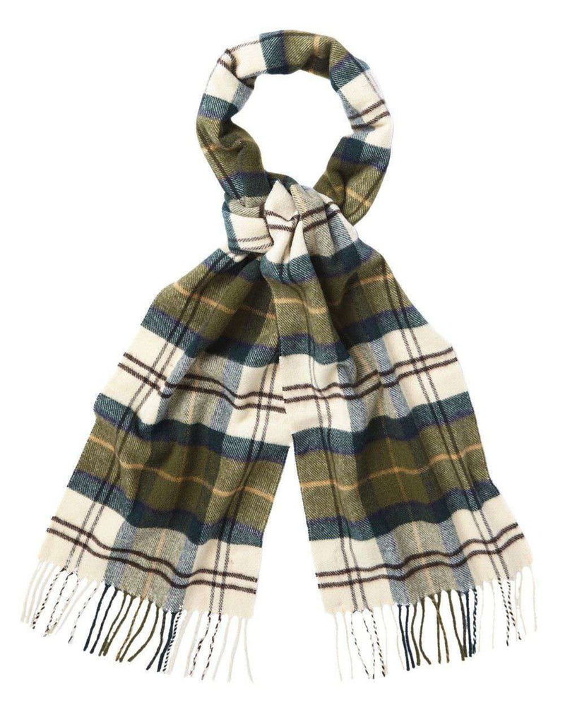 Women's Scarves & Wraps - Ancient Merino Cashmere Tartan Scarf By Barbour