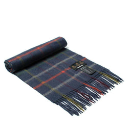 Women's Scarves & Wraps - Bolt Tattersall Scarf In Navy By Barbour