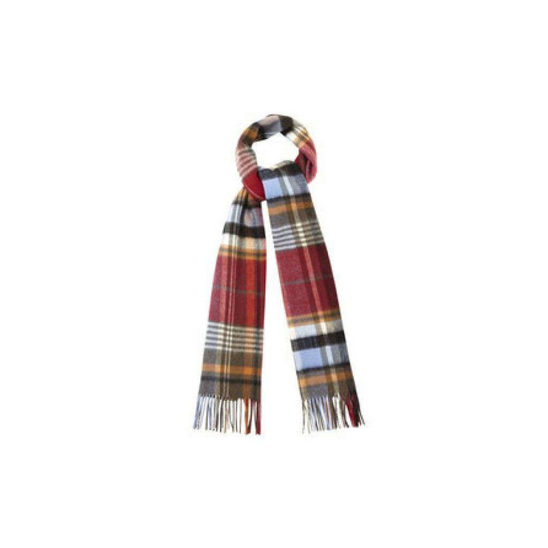 Women's Scarves & Wraps - Bright Country Plaid Scarf In Blue And Red By Barbour