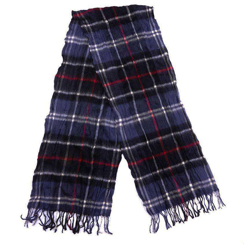 Colton Tartan Scarf in Navy and Red by Barbour - FINAL SALE