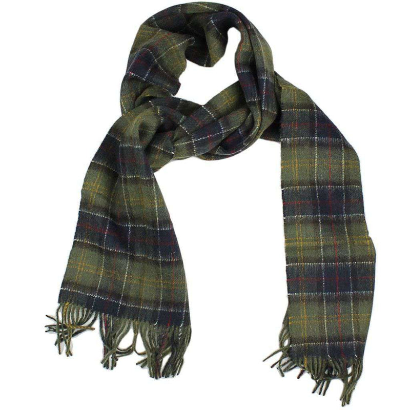Women's Scarves & Wraps - Double Faced Check Scarf In Classic Tartan By Barbour