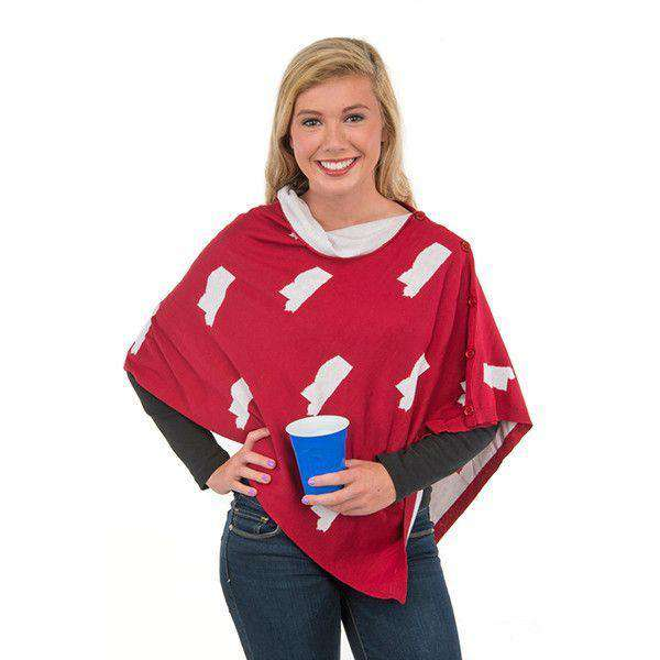 Game Day 3-in-1 Wrap in Mississippi White and Maroon by Top It Off - FINAL SALE
