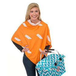 Women's Scarves & Wraps - Game Day 3-in-1 Wrap In Tennessee Orange And White By Top It Off - FINAL SALE