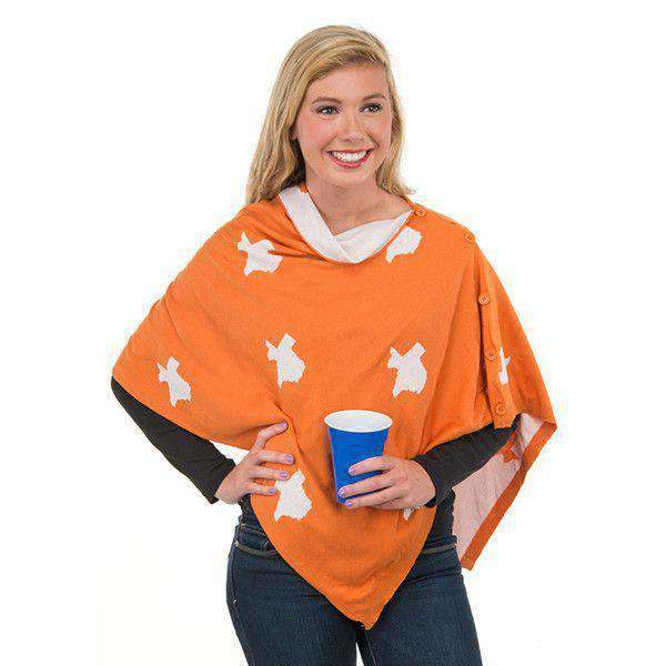 Women's Scarves & Wraps - Game Day 3-in-1 Wrap In Texas Burnt Orange And White By Top It Off - FINAL SALE
