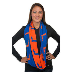 Women's Scarves & Wraps - Game Day Infinity Scarf In Florida Blue And Orange By Top It Off - FINAL SALE