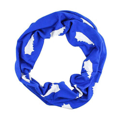 Women's Scarves & Wraps - Game Day Infinity Scarf In Kentucky Blue And White By Top It Off
