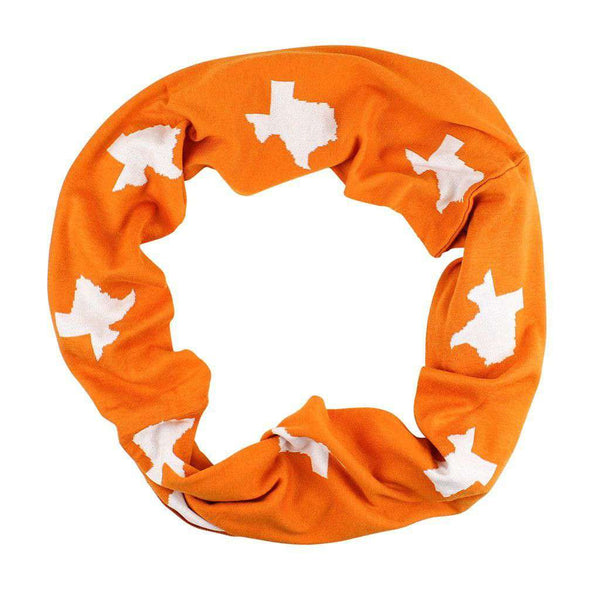 Women's Scarves & Wraps - Game Day Infinity Scarf In Texas Burnt Orange And White - FINAL SALE