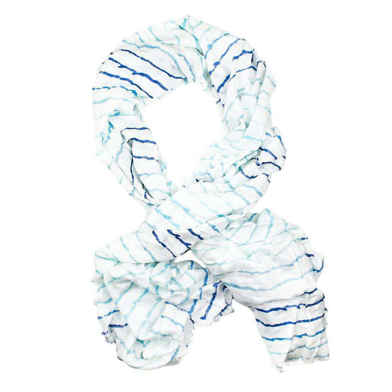 Women's Scarves & Wraps - Island Viscose Scarf In Graduated Wave By Hiho - FINAL SALE