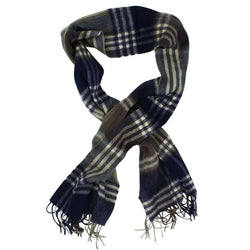 Women's Scarves & Wraps - Kindar Check Scarf In Olive And Navy By Barbour