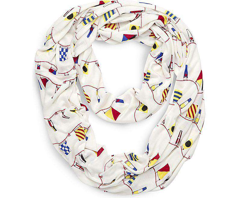 Women's Scarves & Wraps - Nautical Flag Pareo Wrap Scarf In White By Sperry