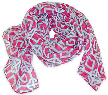 Women's Scarves & Wraps - Pink Charmer Scarf By All For Color