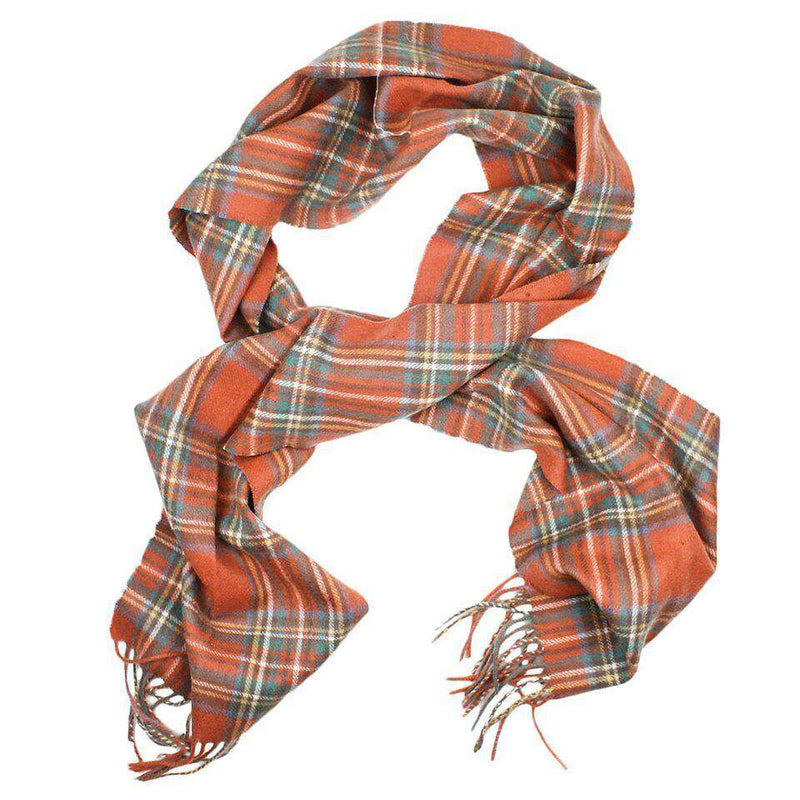 Shilhope Check Scarf in Antique Royal by Barbour
