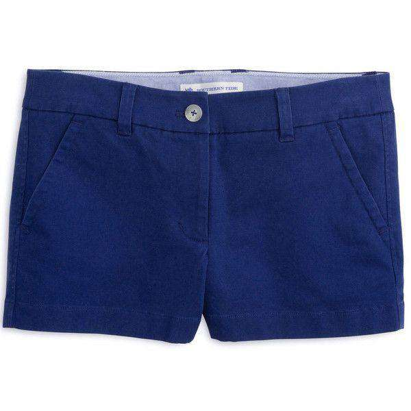 "Women's Shorts - 3"" Leah Short In Yacht Blue By Southern Tide - FINAL SALE"