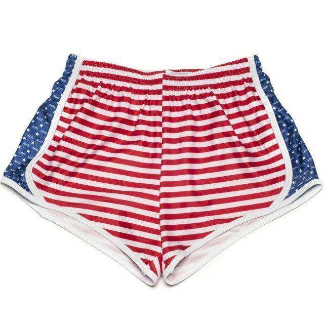 Alpha Omicron Pi Shorts in Red, White and Blue by Krass & Co.
