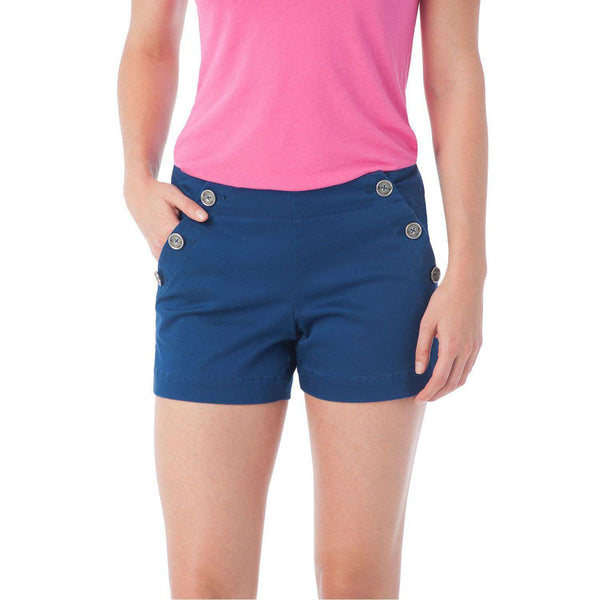 Women's Shorts - Amelia Nautical Short In Yacht Blue By Southern Tide