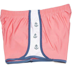 Women's Shorts - Anchors Aweigh Shorts In Coral By Krass & Co.