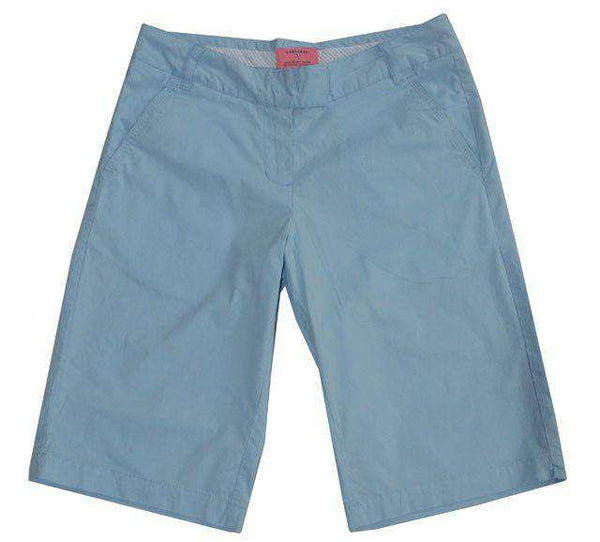 Women's Shorts - Bermuda Short In Carolina Blue By Castaway Clothing - FINAL SALE