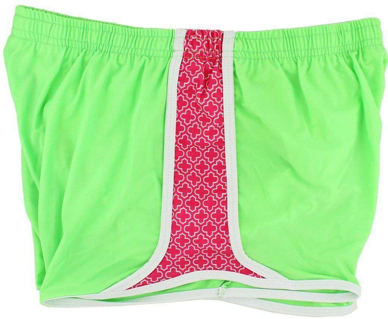 Women's Shorts - Campus Crush Shorts In Neon Green By Krass & Co.